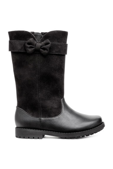 Warm-lined boots - Black - Kids | H&M 1